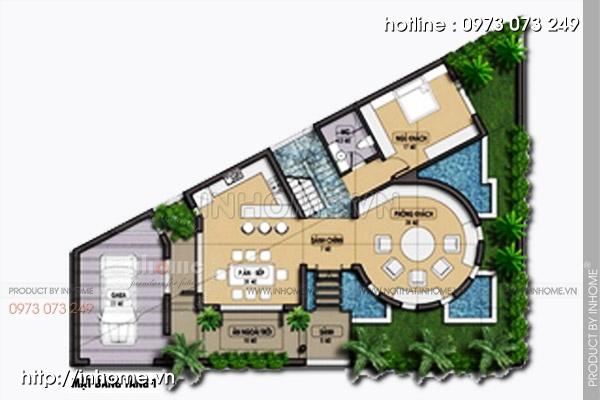 Mẫu thiết kế biệt thự phố mini đẹp sang trọng đầy sức cuốn hút