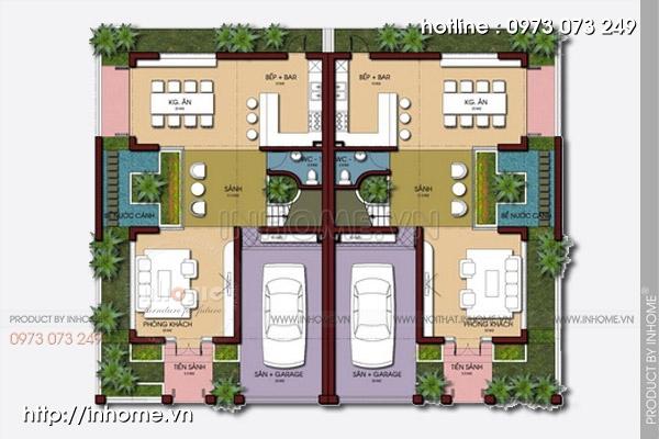 Thiết kế biệt thự phố đẹp tạo không gian sống thỏa mái