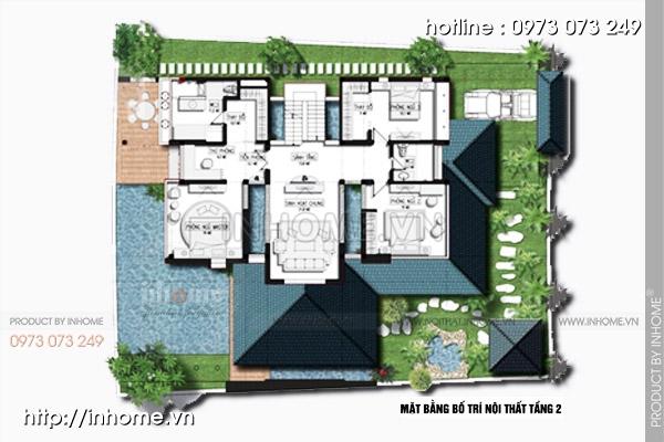 Thiết kế biệt thự BIDV Nam An Khánh - Biệt Thự Đẹp Kiểu Mẫu