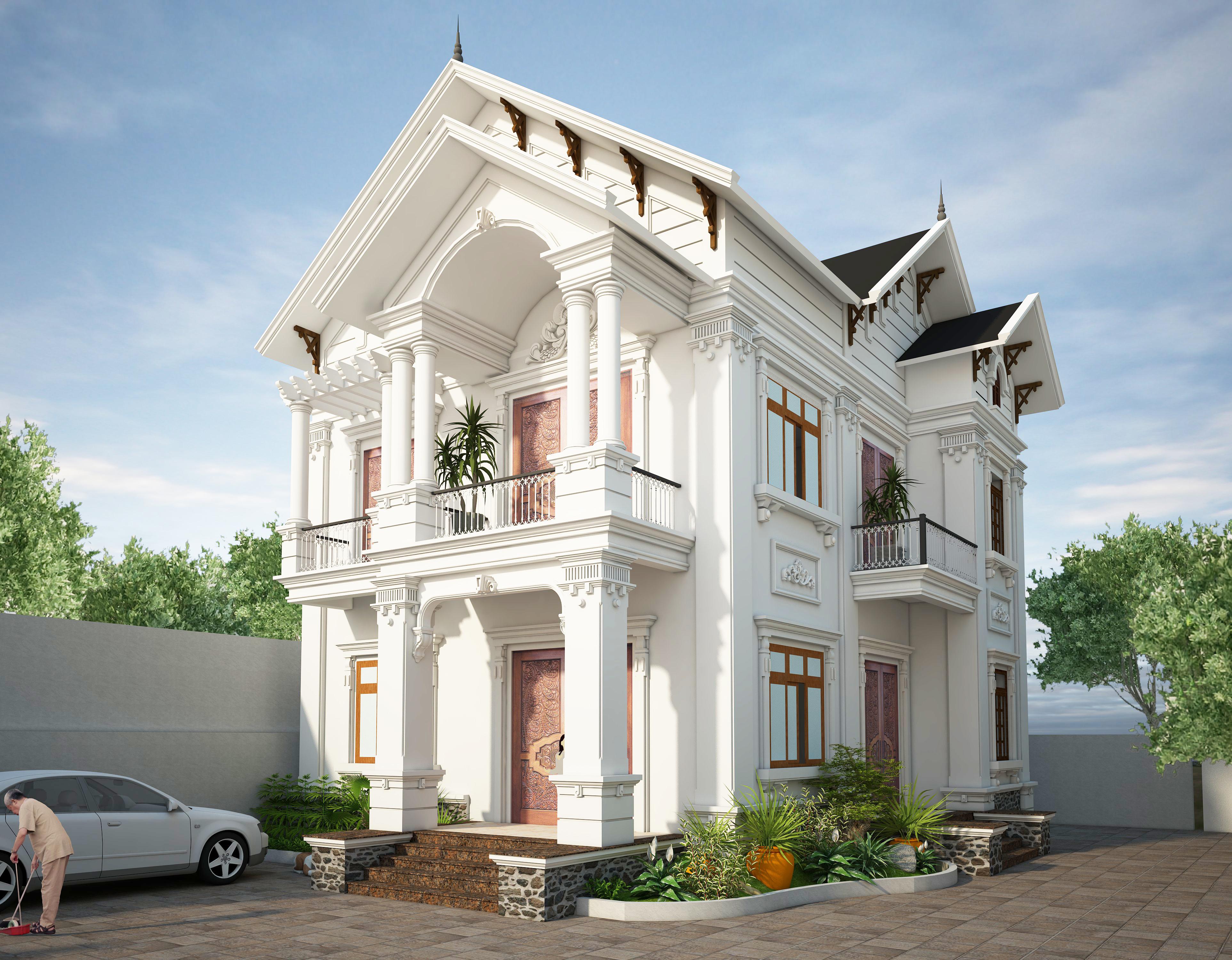 Thiết kế biệt thự cổ điển, tân cổ điển đã trở thành thương hiệu của Inhome