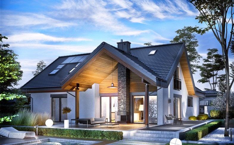 Biệt thự mái thái hiện đại