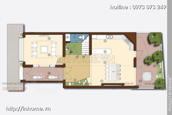 Thiết kế nhà chia lô phố Lạc Chính