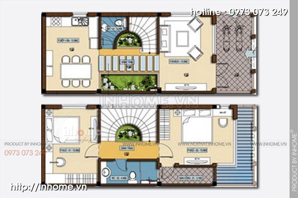 Thiết kế nhà chia lô khu đô thị Trung Yên