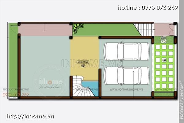 Thiết kế nhà chia lô phố Hoàng Cầu