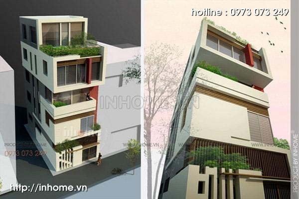 Thiết kế nhà chia lô Đường Láng