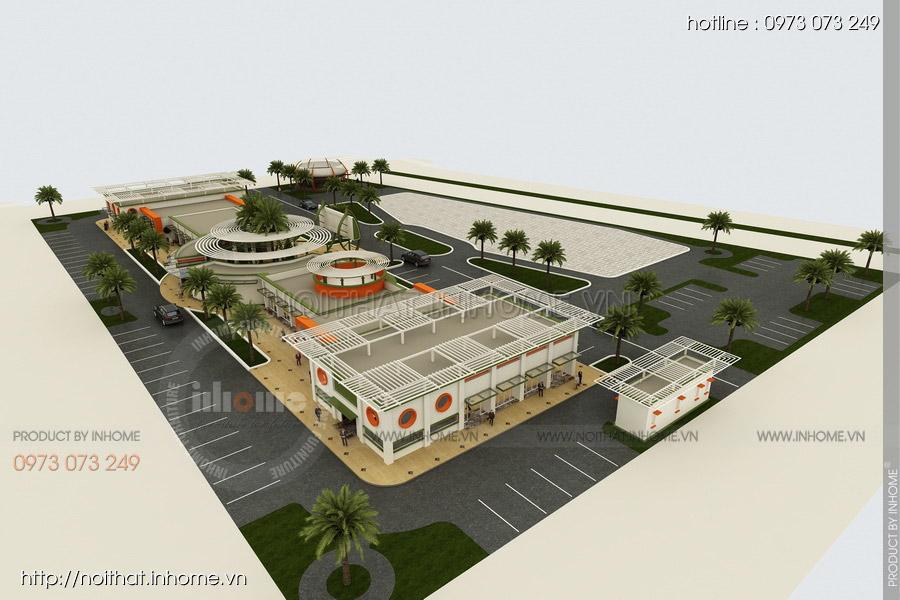 Thiết kế kiến trúc Attapeu Plaza