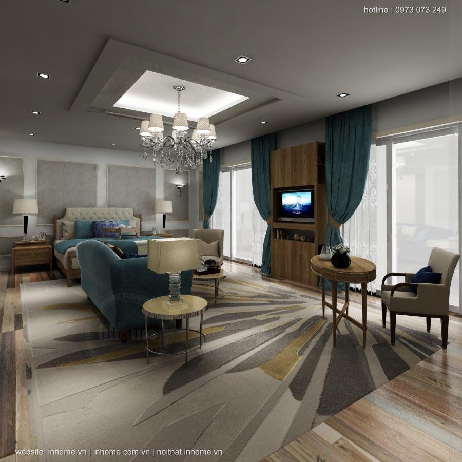 Thiết kế nội thất khách sạn LIBERTY Quảng Bình Hotel-Phòng Suite 3 bays