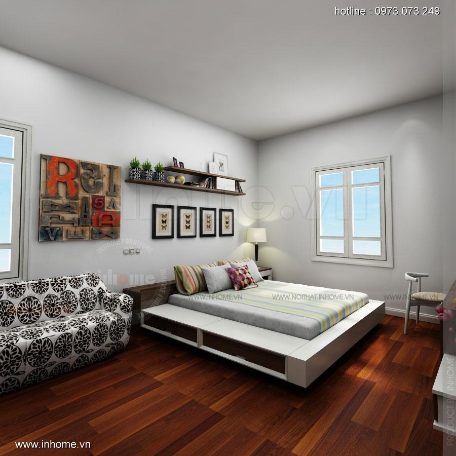 Thiết kế nội thất phòng ngủ không gian nhà chị Điệp