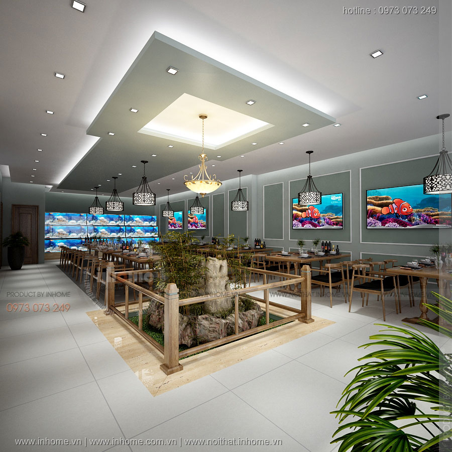 Thiết kế nhà hàng Hải Sản-Mỹ Hào-Hưng Yên