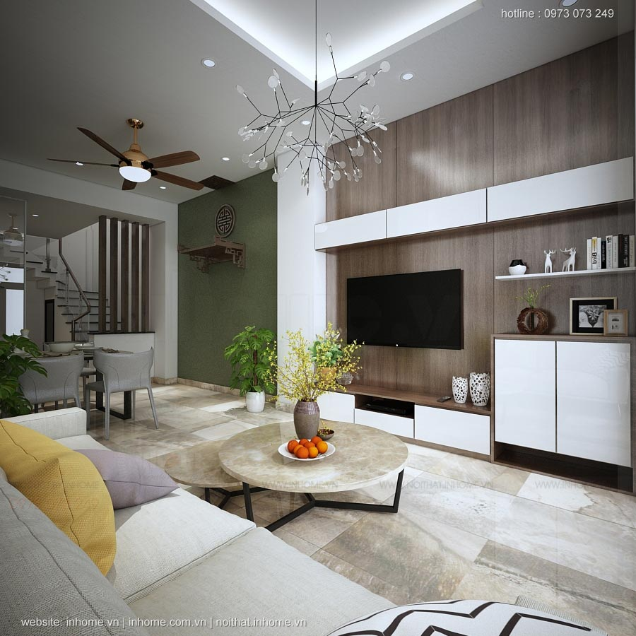Thiết kế nội thất nhà Thạch Cầu-Long Biên