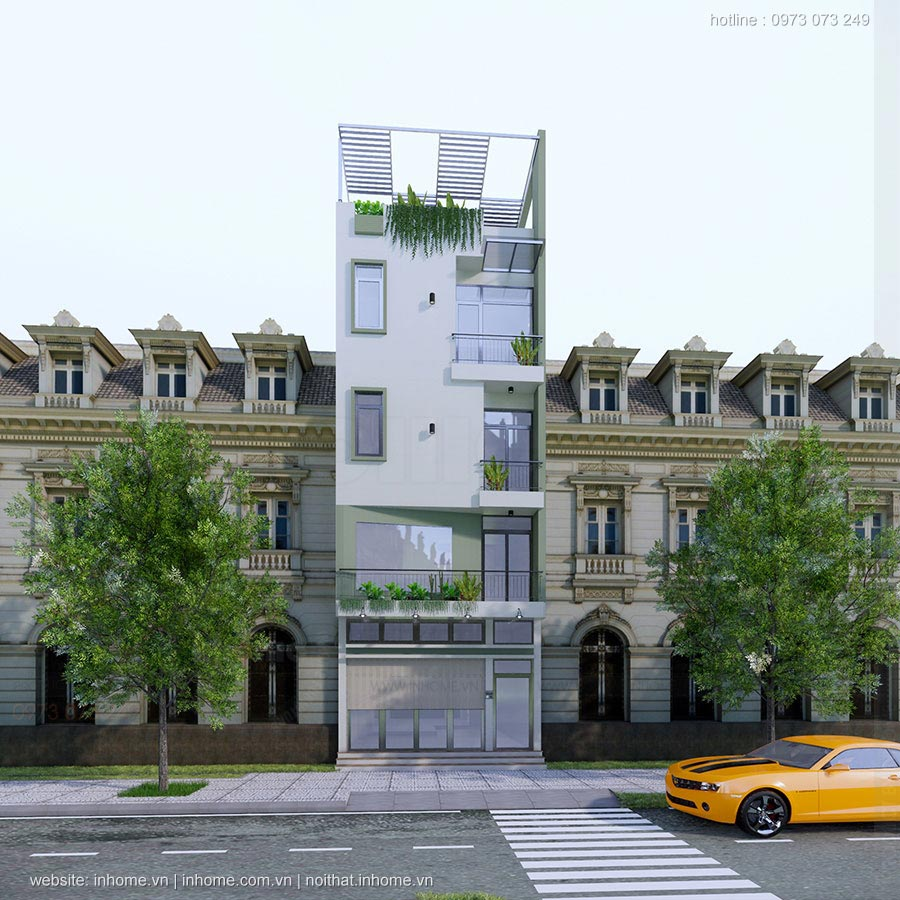 Thiết kế nhà phố Mỹ Hào - Hưng Yên
