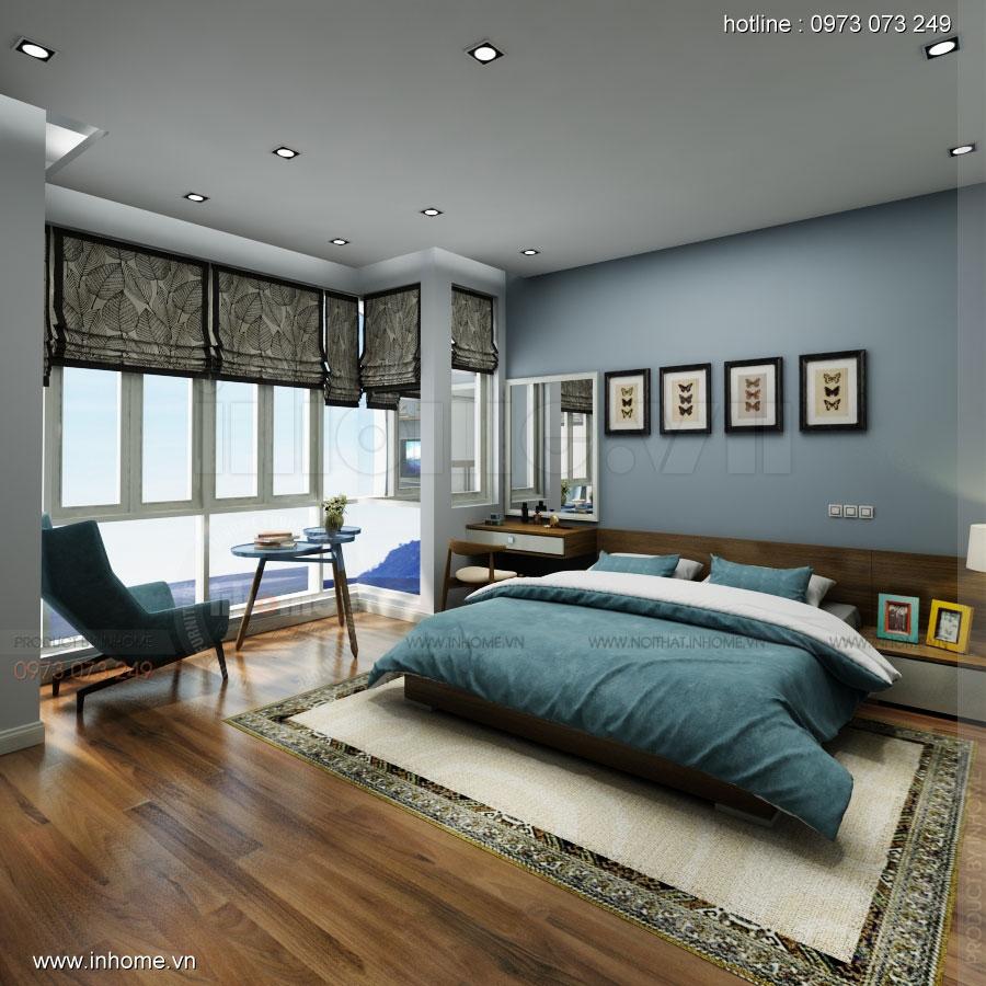 Thiết kế nội thất nhà phân lô, đô thị Xuân Phương Viglacera