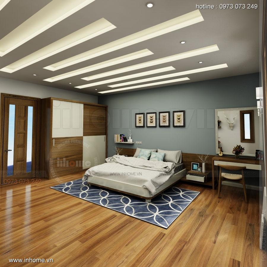 Thiết kế nội thất phòng ngủ nhà lô phố