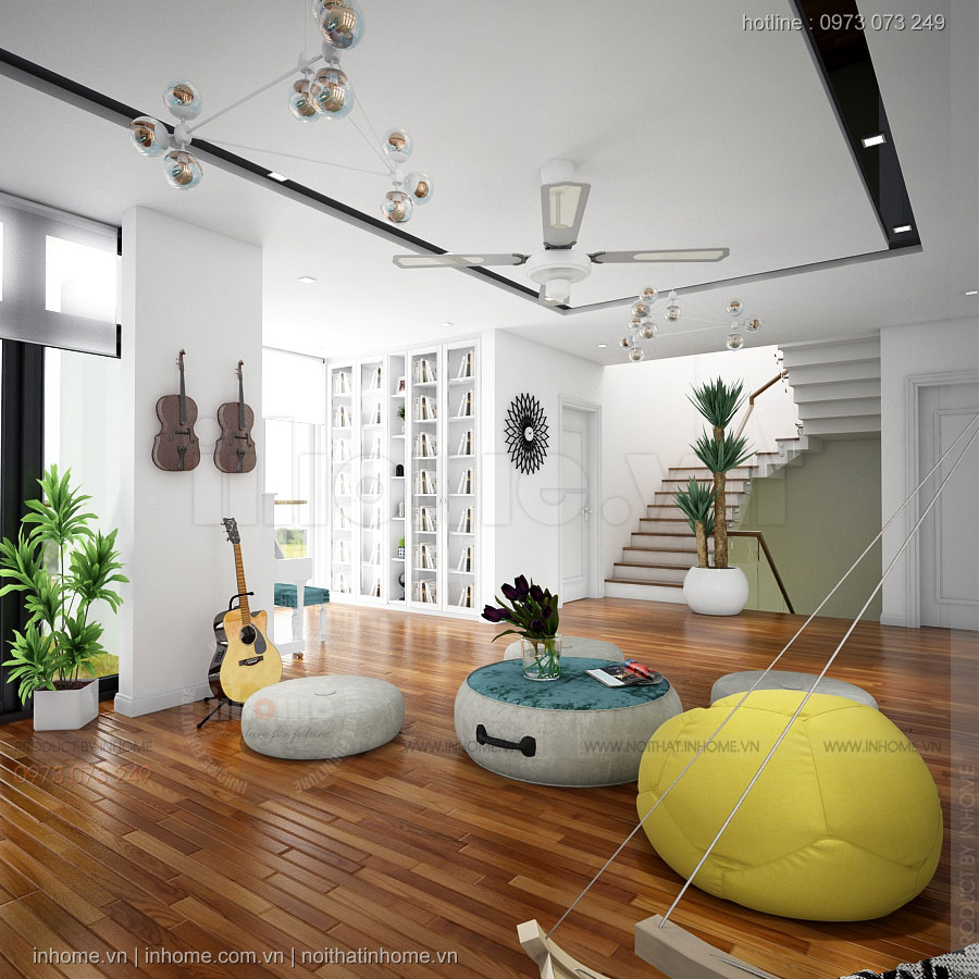 Thiết kế nội thất Biệt Thự Xuân Phương-Viglacera
