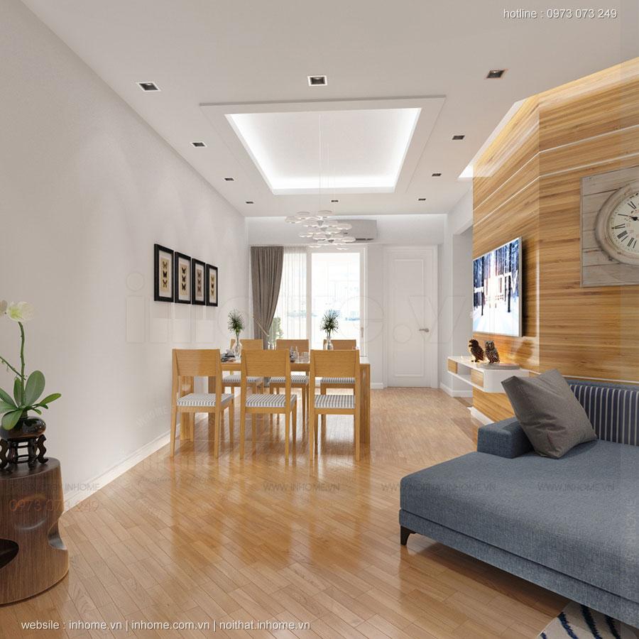 Thiết kế nội thất căn hộ chung cư 100m2 đẹp và phong cách