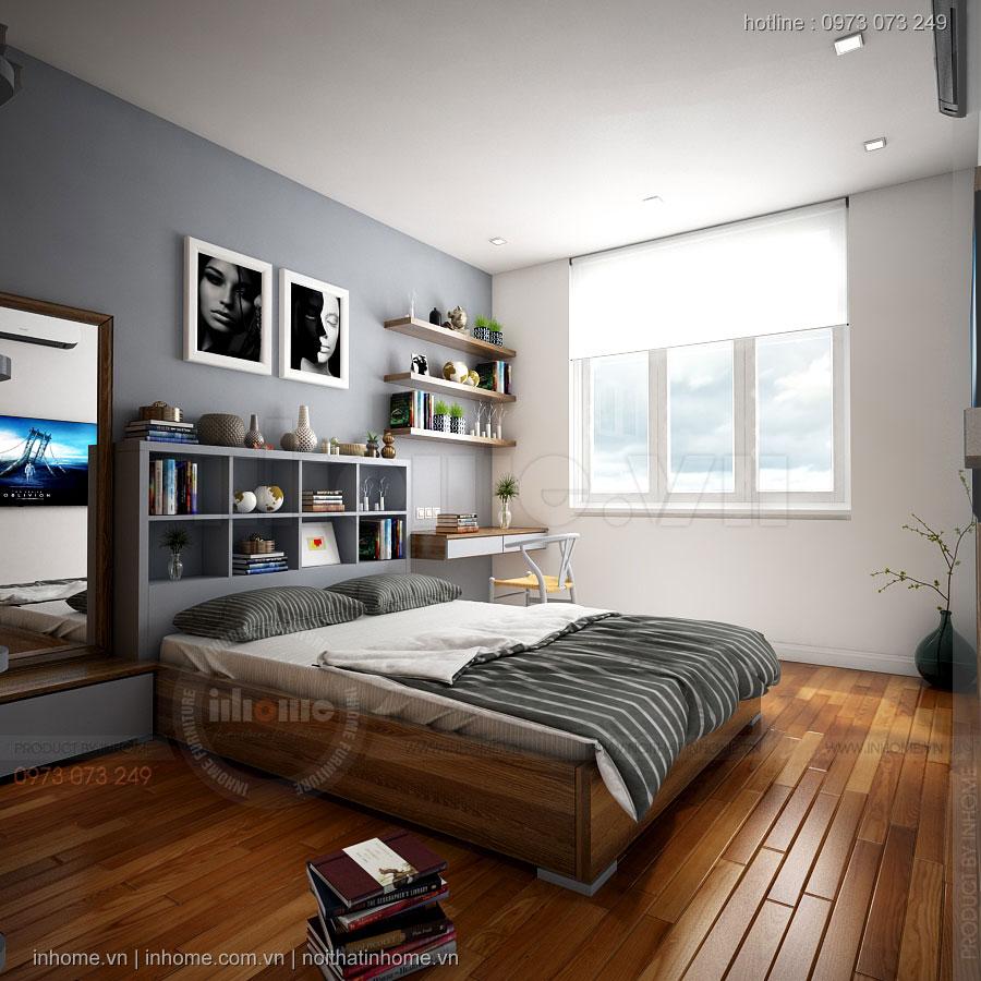 Thiết kế nội thất chung cư 60m2 hiện đại, sang trọng