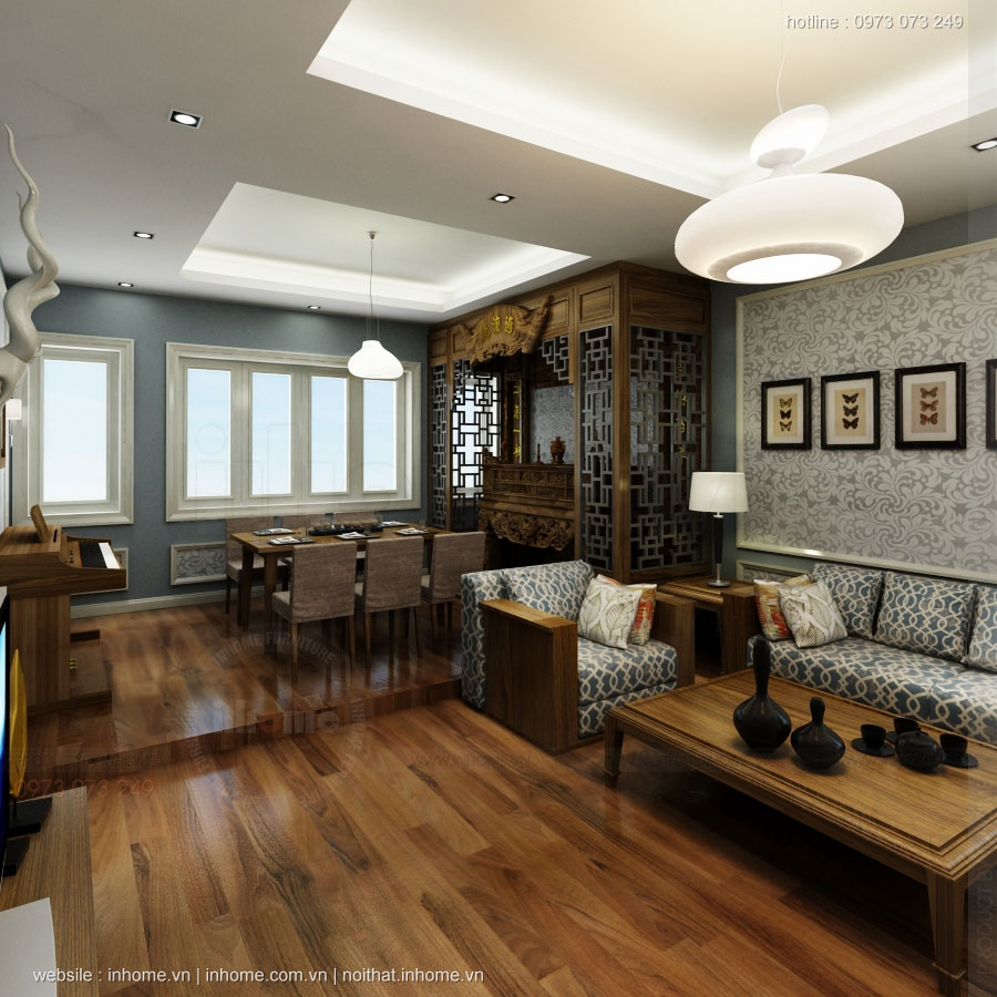 Thiết kế nội thất chung cư ciputra đẹp sang trọng, tinh tế