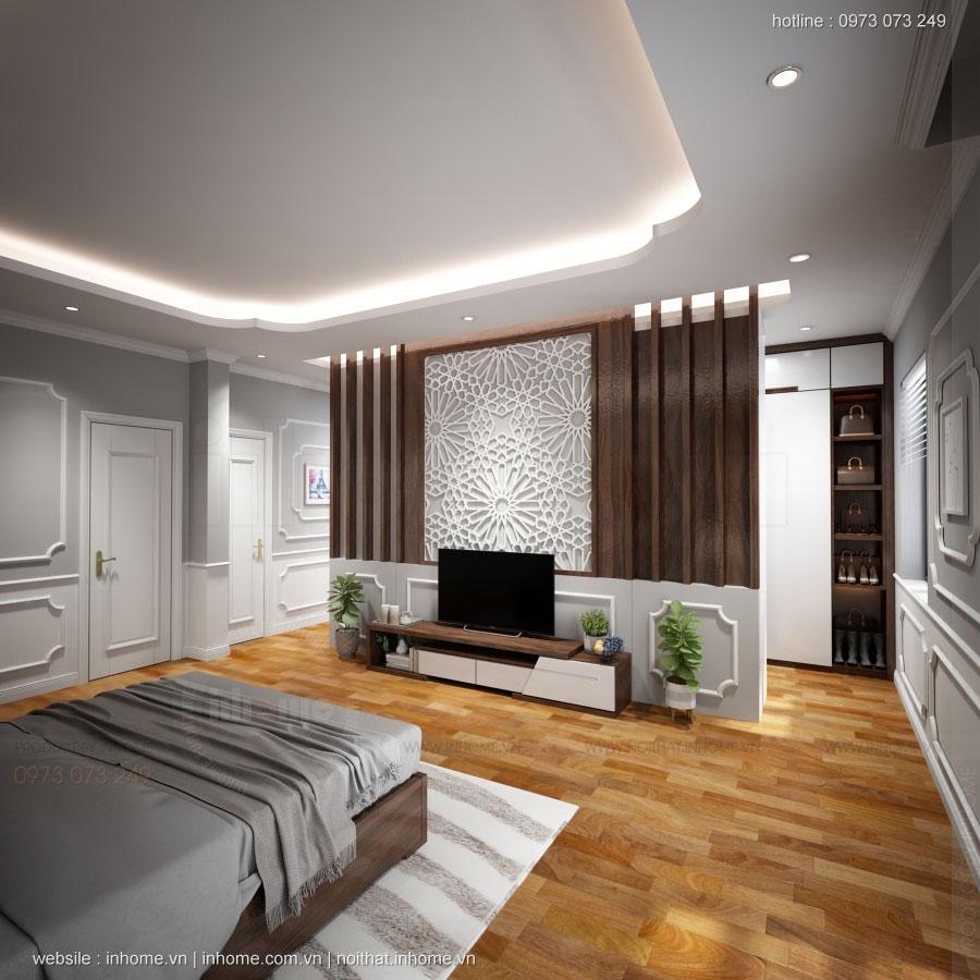Thiết kế nội thất chung cư N04 theo phong cách tân cổ điển