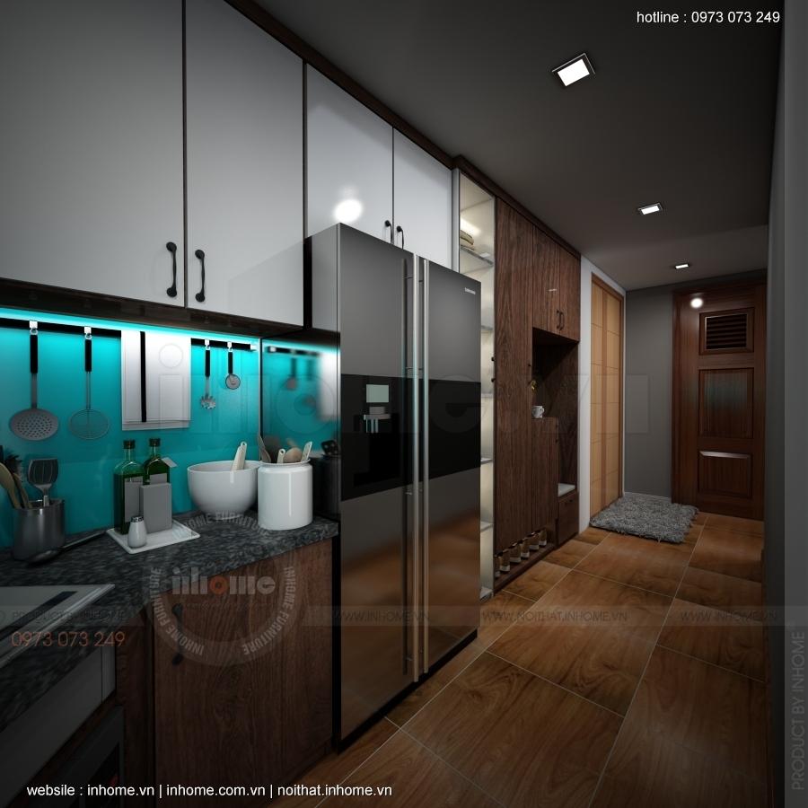 Thiết kế nội thất căn hộ chung cư 45m2 rộng rãi như 60m2
