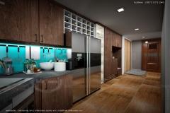 Trẻ trung năng động với thiết kế nội thất căn hộ chung cư 65m2
