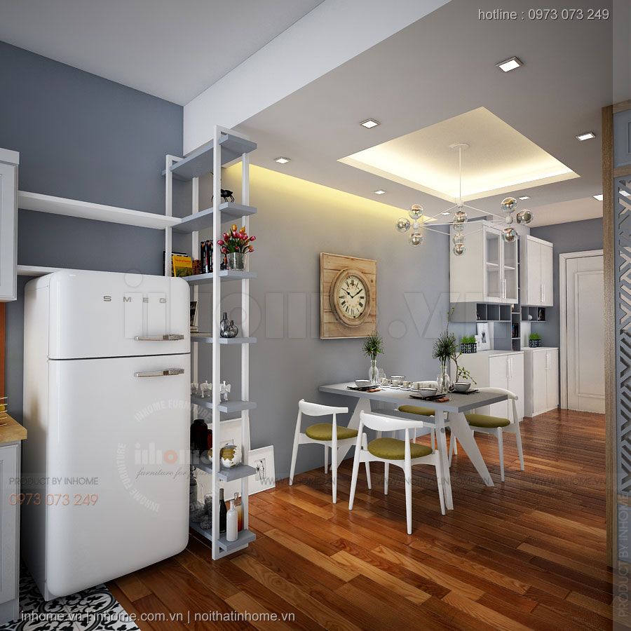 Thiết kế nội thất căn hộ chung cư kim văn kim lũ đầy sáng tạo