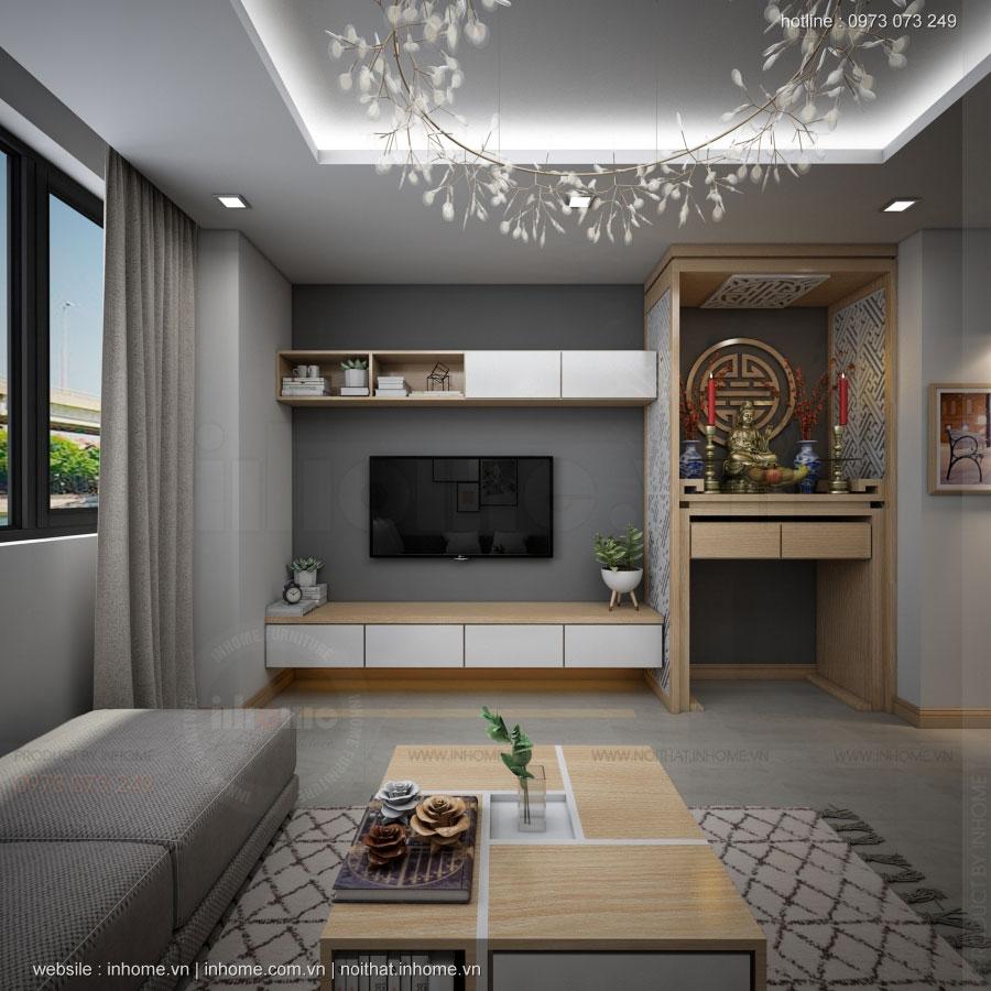 Thiết kế nội thất chung cư N02 T1 Ngoại Giao Đoàn 02