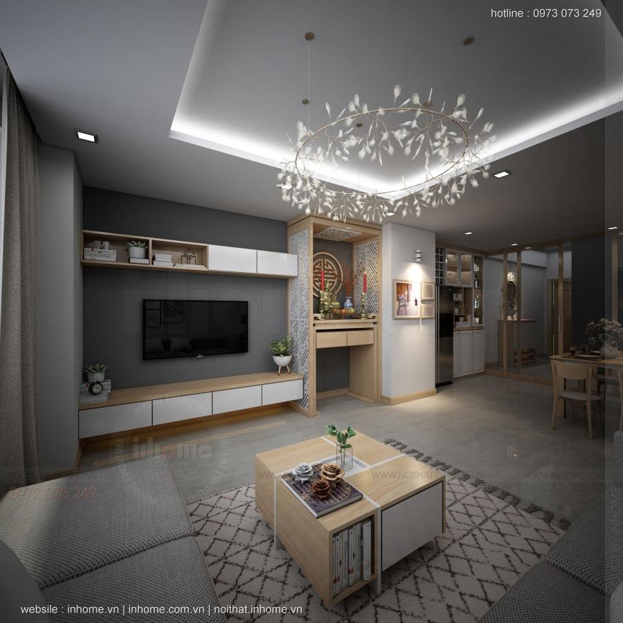 Thiết kế nội thất chung cư N02 T1 Ngoại Giao Đoàn 03