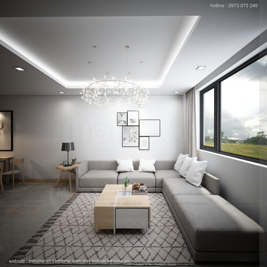 Thiết kế nội thất chung cư N02 T1 Ngoại Giao Đoàn 04