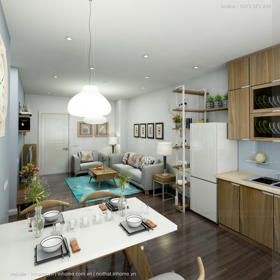 Thiết kế nội thất chung cư Linh Đàm