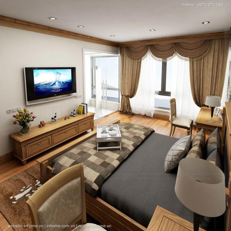Thiết kế nội thất tân cổ điển chung cư Thăng Long Number One