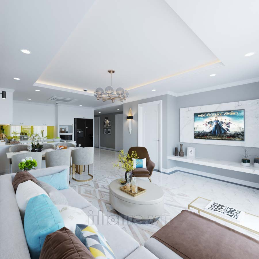 Thiết kế nội thất chung cư D'Le Roi Solei Xuân Diệu