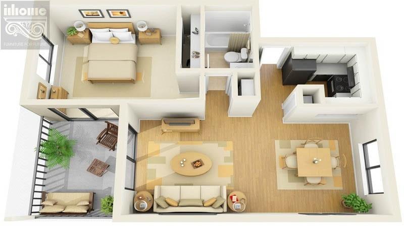 Mẫu thiết kế nội thất chung cư 90m2