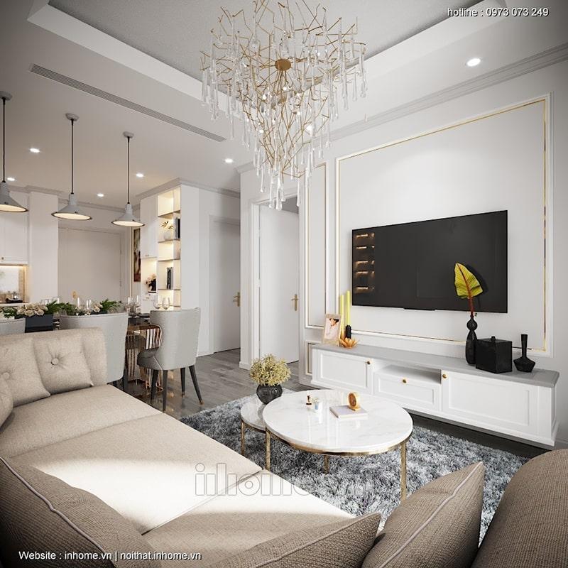 Đèn chùm dạng thả - bí quyết giúp phòng khách thêm phần sang trọng, lộng lẫy