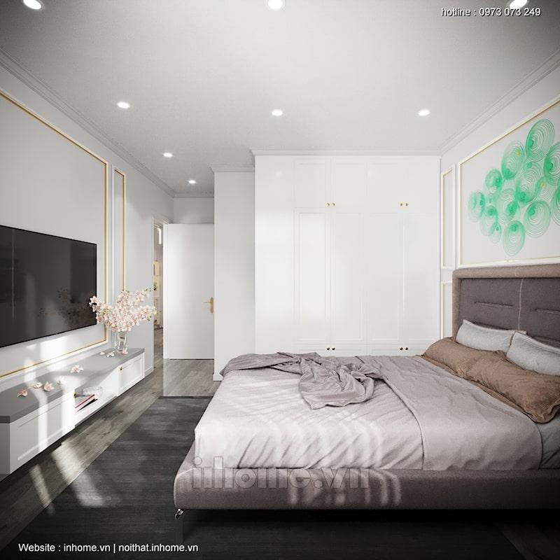 Thiết kế phòng ngủ tối giản với màu sắc trung tính