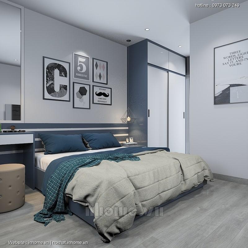 Phòng ngủ Master với màu sắc trung tính