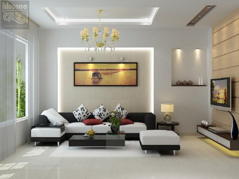 Thiết kế nội thất chung cư cao cấp, hiện đại làm bừng sáng không gian gia đình