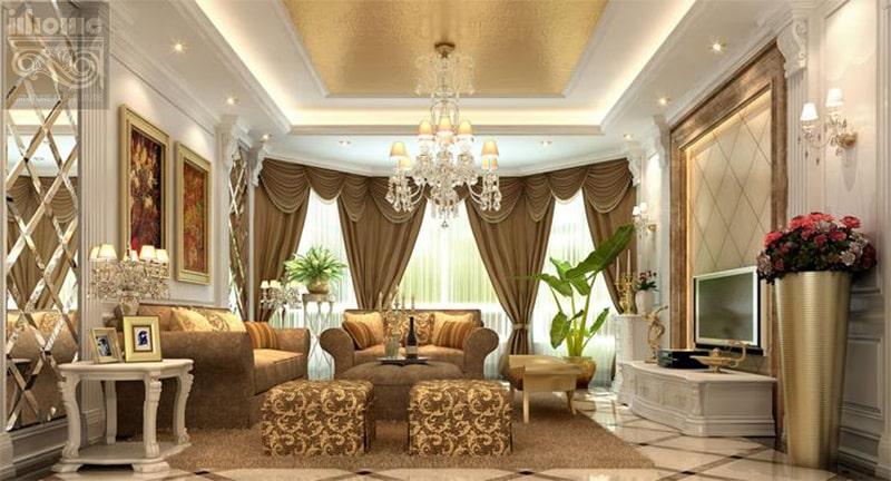Phong cách thiết kế nội thất chung cư tân cổ điển