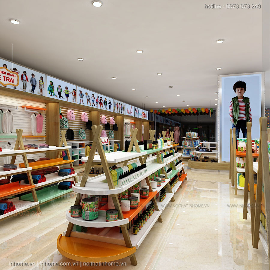 Thiết kế siêu thị Mẹ và Bé- Nam Định Tower