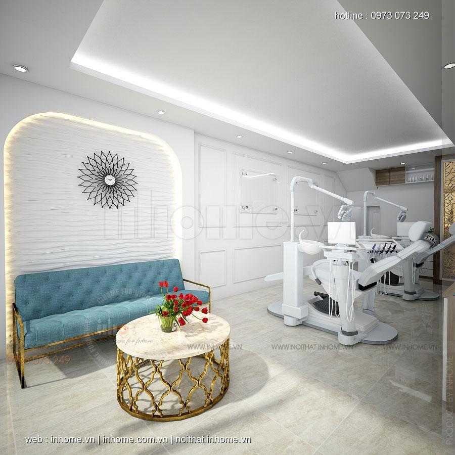 Thiết kế nội thất phòng khám nha khoa Long Biên