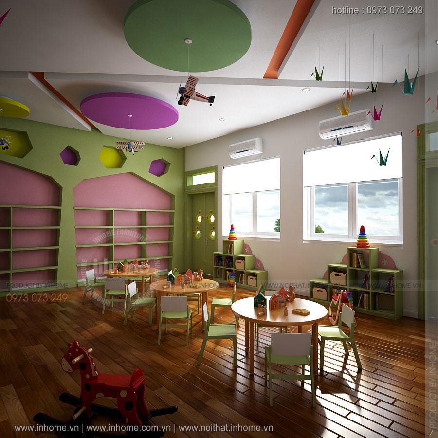 Thiết kế lớp học đặc biệt trường mầm non Ánh Dương