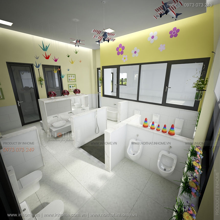 Thiết kế trường mầm non Violet-Thành phố HCM