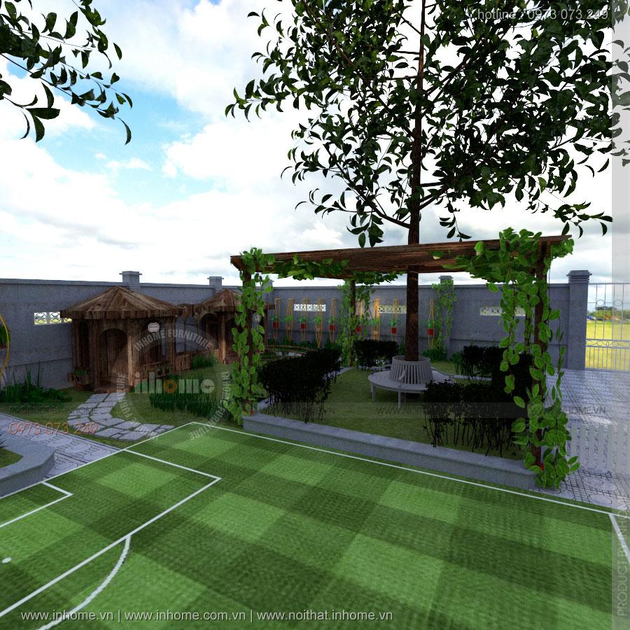 Thiết kế sân vườn trường mầm non Đan Phượng