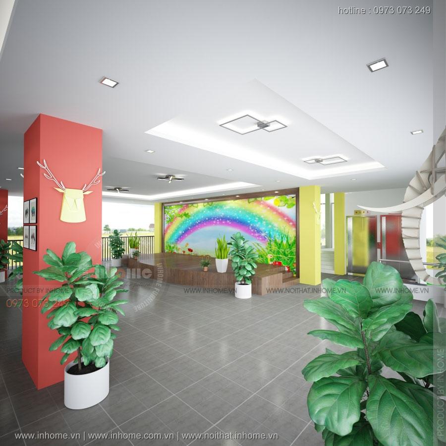 Thiết kế trường mầm non Rainbow-Nghệ An