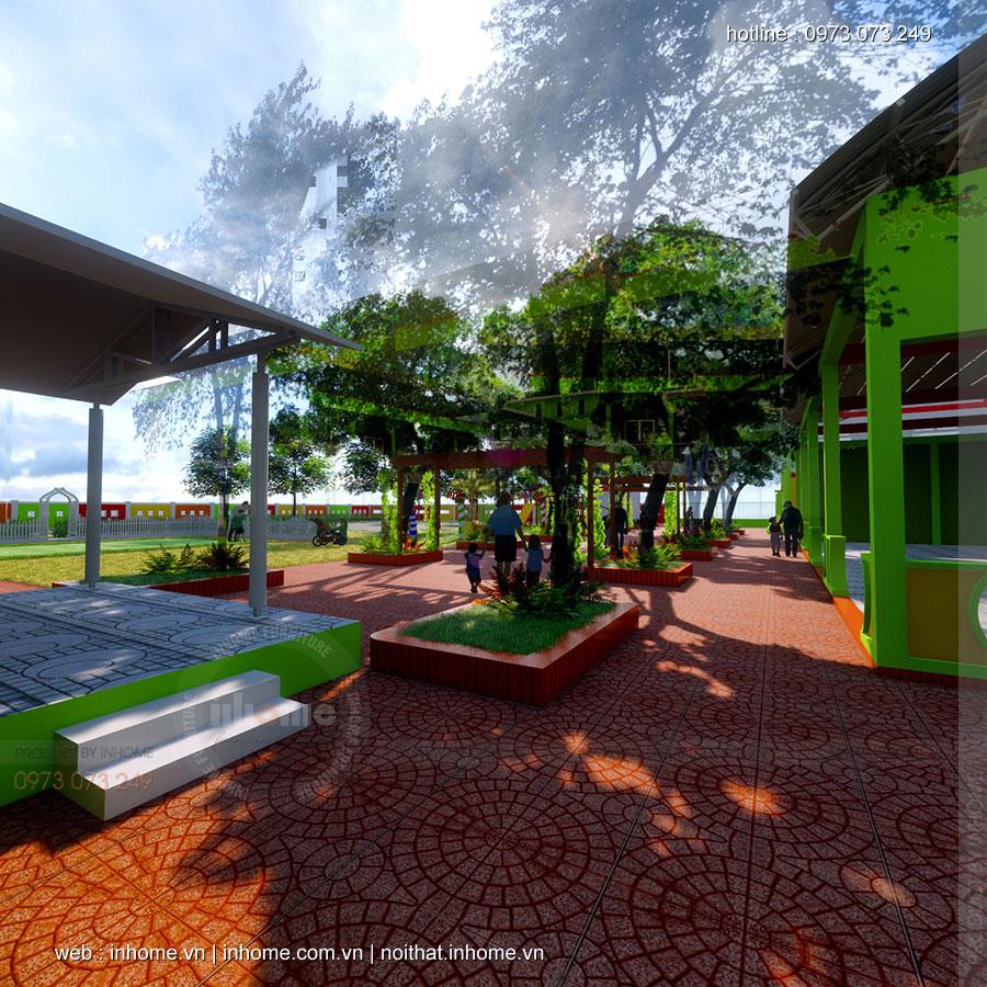 Thiết kế trường mầm non Phước Huệ-Hưng Yên