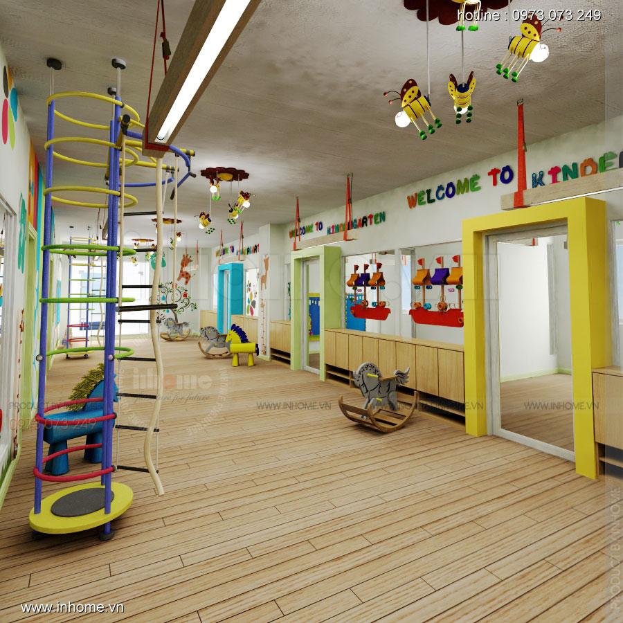 Thiết kế nội thất trường mầm non Đồng Mận Nhỏ