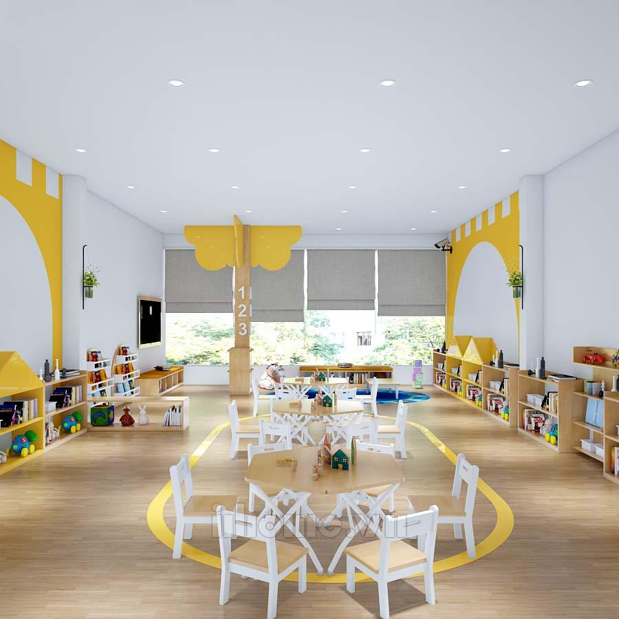Thiết kế trường mầm non Chocopie