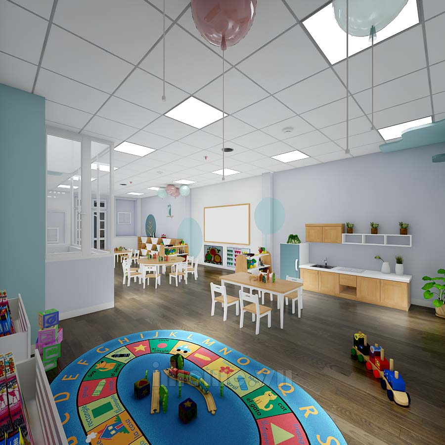 Thiết kế trường mầm non American School - Phố Huế