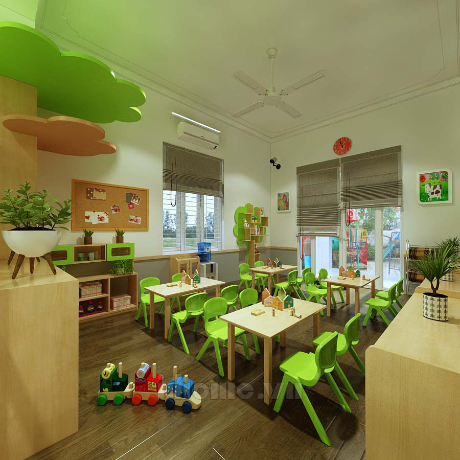 Thiết kế trường mầm non Việt Úc 1