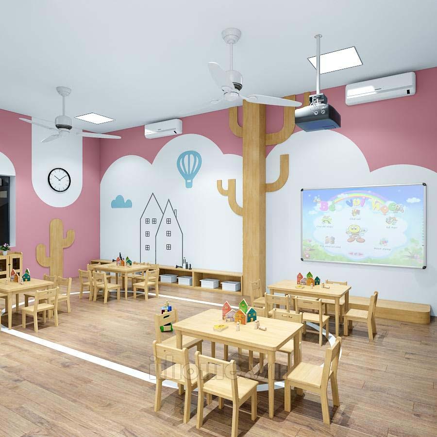 Thiết kế trường mầm non Mon Kids Hải Phòng