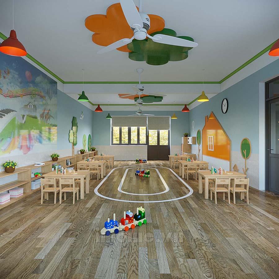 Thiết kế nội thất trường mầm non OLYMPIA- Thành phố Móng Cái